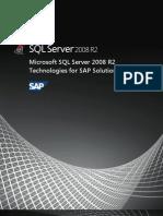 Microsoft SQL Server 2008 R2 Technologies for SAP Solutions Whitepaper