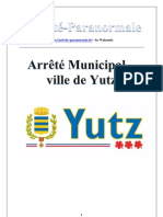 Arrete Municipal Pluie Yutz 31 Mai 2013