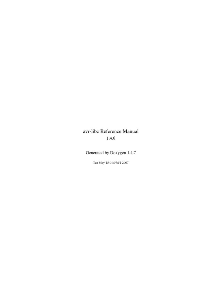 avr libc user manual 1 4 6 computer programming computing rh fr scribd com C STD Library Standard Functions C