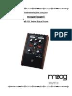 Moog Moogerfooger  Stage Phaser