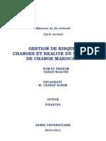 Gestion de risque de changes et réalité du marche de change marocain