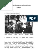 Două fotografii frumoase ca literatura română