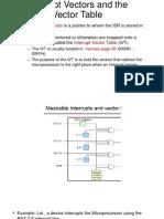 Interrupt Vectors and the Vector Table