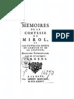 Argens, J.B. de Boyer - Mémoires de la Comtesse de Mirol...