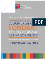 Formacion Investigacion Fondart Regional