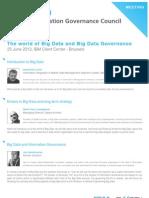 The world of Big Data and Big Data Governance