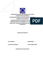 Analisis Critico Proceso Cognitivos