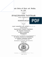 The Svacchanda Tantram With Comm by Kshemaraja - KSTS LVI