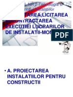 Curs 2=Proiectarea,Licitarea Si Contractarea Executiei Lucrarilor de Instalatii-montaj