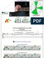 AGEDC4BASS A minor-diminished arpeggio box shapes