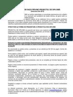 Instructiuni Elaborare PROIECT de DIPLOMA ITT_ 2013