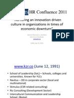 LUMS HR Confluence - Apr 23, 2011 - Nurturing Innovation