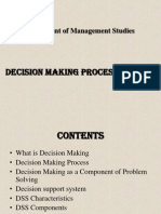 Decision Making Process and DSS