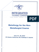 Metallurgy for Non-Metallurgist