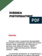 7. DUREREA POSTOPERATORIE