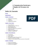 CAMPAÑA DE COMUNICACION PARA PROMOVER EL EMPLEO EN PERSONAS CON DISCAP0ACIDAD