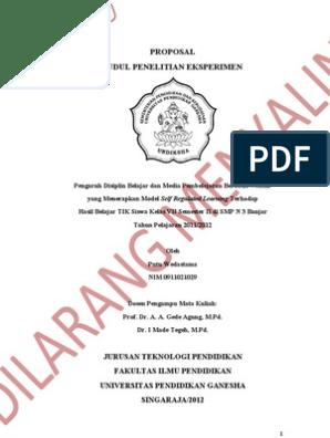 Contoh Proposal Pgsd Pdf Goresan