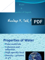 Water and Liquid Properties