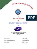 Cadburyrtraining&Development