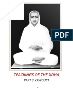 Teachings of the Sidhas - Part 3 - Conduct