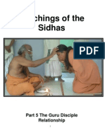 Teachings of the Sidhas - Part 5 - Guru Disciple Relationship