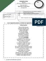 evaluacion spanish 6° basico