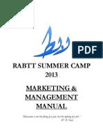 RSC'13 Marketing, Management and Social Media Manual