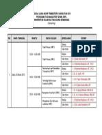 Jadual Uat III Angkatan Xxv