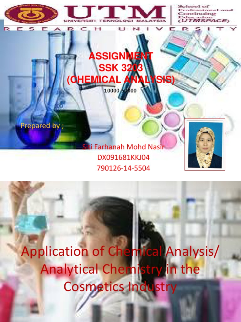 Cosmetics Analysis PPT | Cosmetics | Ilmu Kimia