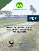 Distribucion Agua Sistemas Riego Por Gravedad