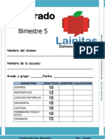 6to Grado - Bimestre 5 (2012-2013)