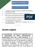 Ejercicios Para Ordenamiento de Parrafos