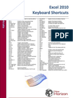 Excel 2010 Shortcuts