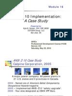 Dotson ANSI-z10 Case Study