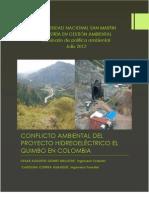 Conflicto Hidroelectrico El Quimbo