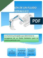 SELECCIÓN DE UN FLUIDO HIDRAULICO