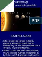 De Unde Vine Numele Planetelor