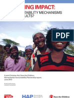 Improving Impact - Do Accountability Mechanisms Deliver Results - Short Report, 2013