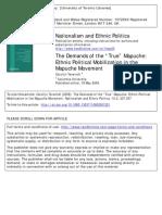 Mapuche Ethnic Mobilization