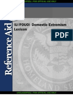 DHS Domestic Extremism Lexicon