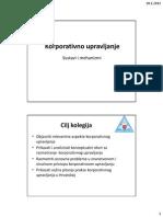 Uvod u Korporativno Upravljanje-2012