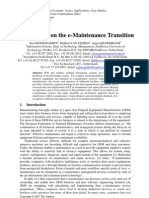 Perspectives on the e-Maintenance Transition