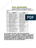 Bol. 20-13 Selecciones