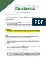 Merkblatt Zur Besteuerung Von Kleinunternehmern