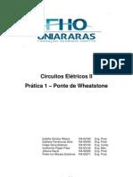 Prática 1 - Ponte de Wheatstone