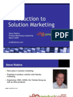 Introduction to Solution Marketing for Software