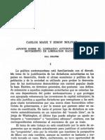Hal Draper - Carlos Marx y Simón Bolívar