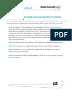 Marketing Communication Plan Template