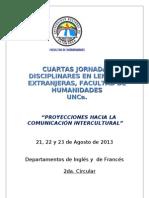 Circular N º II Cuartas Jornadas Disciplinares LEX 2013 - UNCA