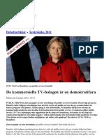 Tjuven Eva Hamilton Snackar Om Public Service 2012